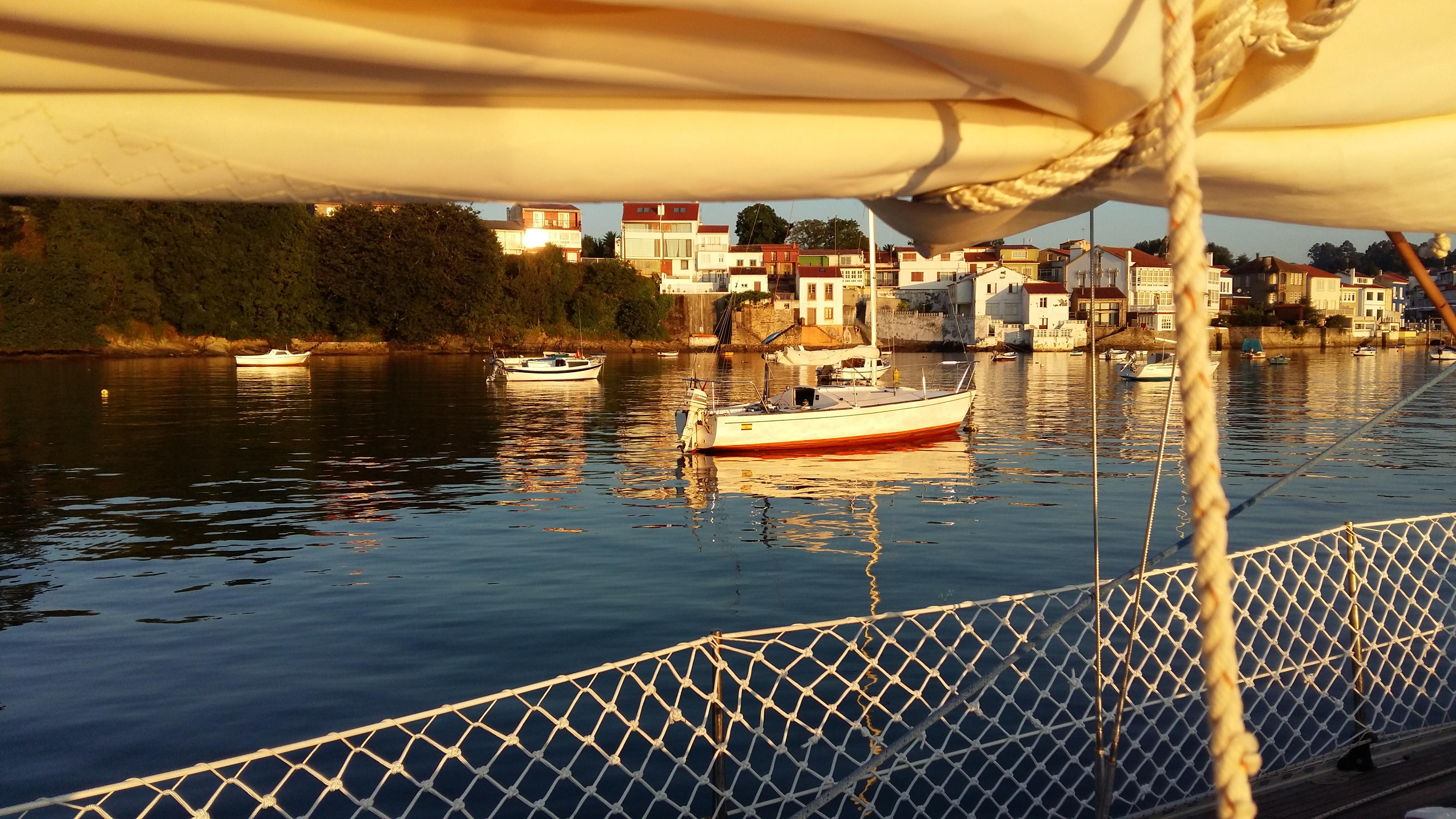 noche en el barco, amanece