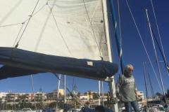 preparando el barco