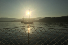 amanecer Pontedeume tras navegación nocturna